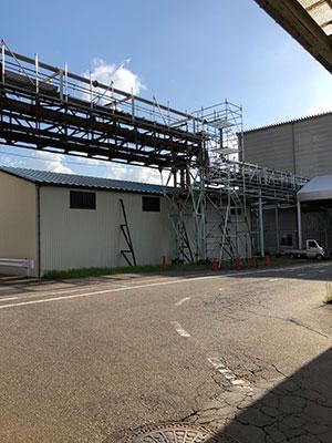 福井県 新設配管及び撤去用足場 2018.5