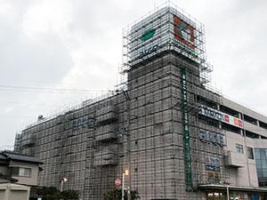 滋賀県ショッピングセンター 外壁他改修工事 2018.9